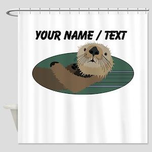 Custom Otter Shower Curtain