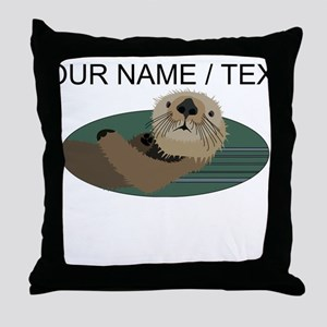 Custom Otter Throw Pillow