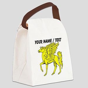 Custom Gold Pegasus Statue Canvas Lunch Bag