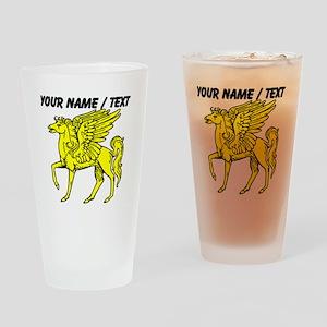 Custom Gold Pegasus Statue Drinking Glass