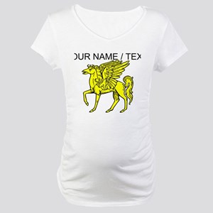 Custom Gold Pegasus Statue Maternity T-Shirt