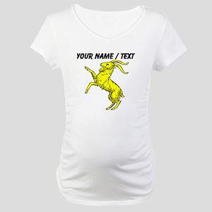 Custom Gold Goat Statue Maternity T-Shirt