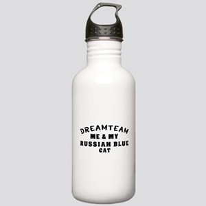 Russian Blue Cat Designs Stainless Water Bottle 1.