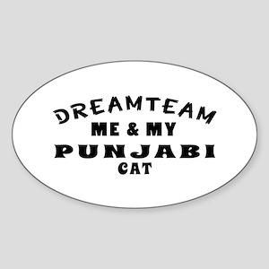 Punjabi Cat Designs Sticker (Oval)