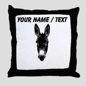 Custom Donkey Face Throw Pillow
