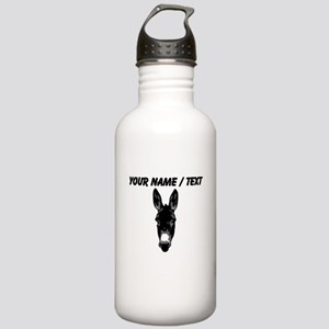 Custom Donkey Face Water Bottle