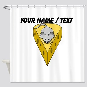 Custom Mouse With Cheese Shower Curtain
