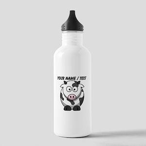 Custom Cartoon Cow Water Bottle