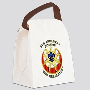 Army - DUI - 9th Infantry Division Canvas Lunch Ba