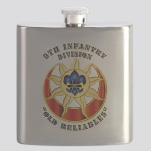 Army - DUI - 9th Infantry Division Flask