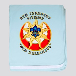 Army - DUI - 9th Infantry Division baby blanket
