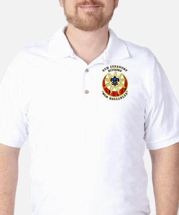 Army - DUI - 9th Infantry Division Golf Shirt