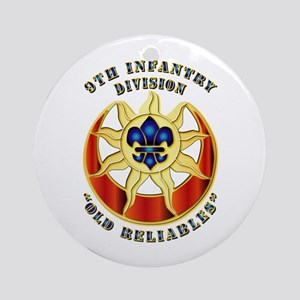 Army - DUI - 9th Infantry Division Ornament (Round