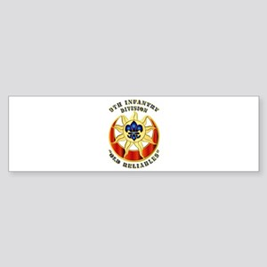 Army - DUI - 9th Infantry Division Sticker (Bumper