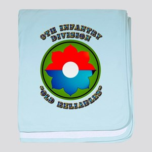 Army - SSI - 9th Infantry Division baby blanket