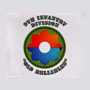 Army - SSI - 9th Infantry Division Throw Blanket