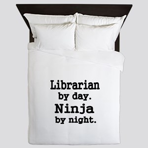 Librarian day. Ninja by Night Queen Duvet