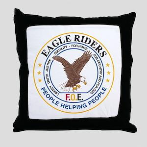 Eagle Riders Throw Pillow