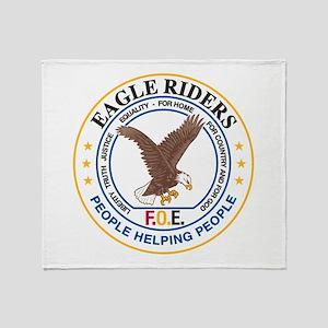Eagle Riders Throw Blanket