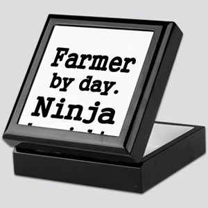 Farmer by day. Ninja by Night. Keepsake Box
