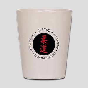 Judo Logo circle Shot Glass