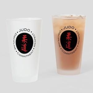 Judo Logo circle Drinking Glass