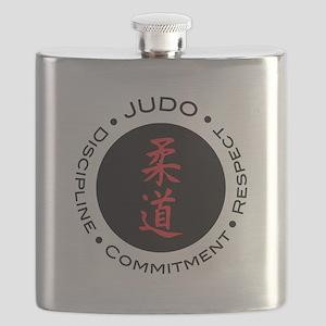 Judo Logo circle Flask
