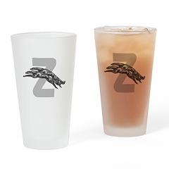 Z Borzoi Drinking Glass