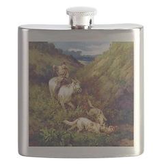 Borzoi Hunt Flask