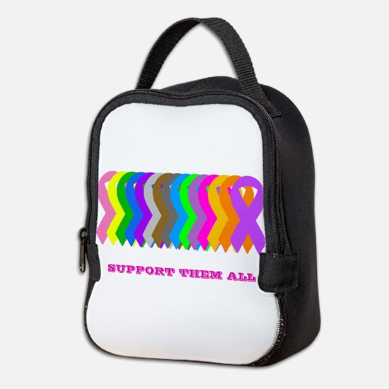 Support them all Neoprene Lunch Bag