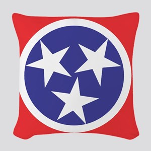 Tennessee Flag Woven Throw Pillow