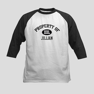 Property of Jillian Kids Baseball Jersey