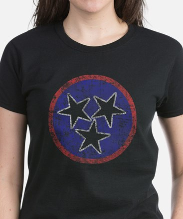 Faded Tennessee American Women's Dark T-Shirt