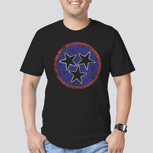 Faded Tennessee American Men's Fitted T-Shirt (dar