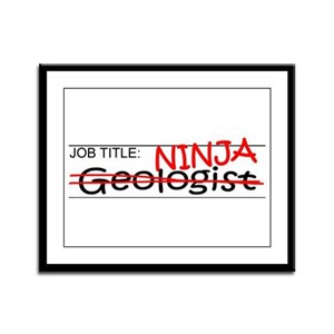 Job Ninja Geologist Framed Panel Print