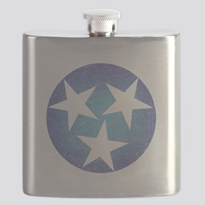 Cool Blue Tennessee Flask