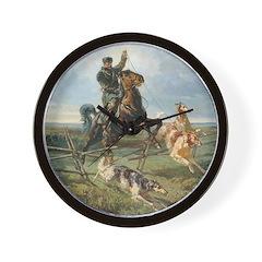 Russian Borzoi Hunt Wall Clock