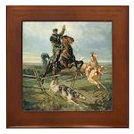 Russian Borzoi Hunt Framed Tile