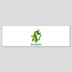 Dragon Just Add Name Bumper Sticker