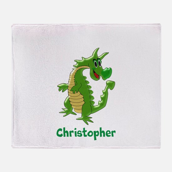 Dragon Just Add Name Throw Blanket