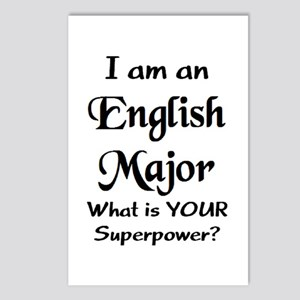 english major Postcards (Package of 8)