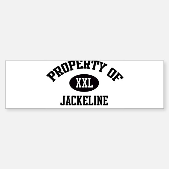 Property of Jackeline Bumper Bumper Bumper Sticker