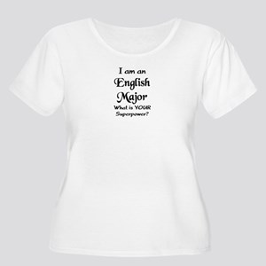 english major Women's Plus Size Scoop Neck T-Shirt
