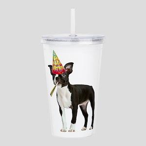 Boston Terrier Birthda Acrylic Double-wall Tumbler