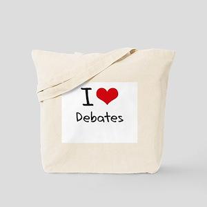 I Love Debates Tote Bag