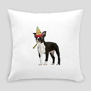 Boston Terrier Birthday Everyday Pillow