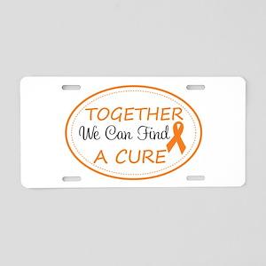 Orange Awareness Ribbon Aluminum License Plate
