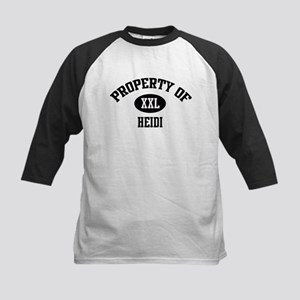Property of Heidi Kids Baseball Jersey