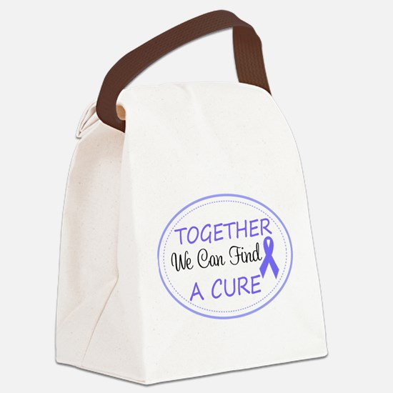 Periwinkle Awareness Ribbon Canvas Lunch Bag