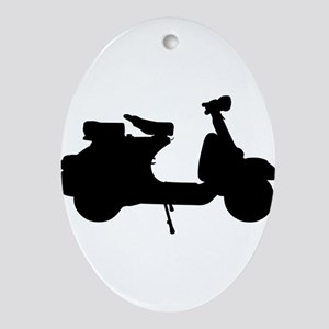 scooter10x10 Ornament (Oval)